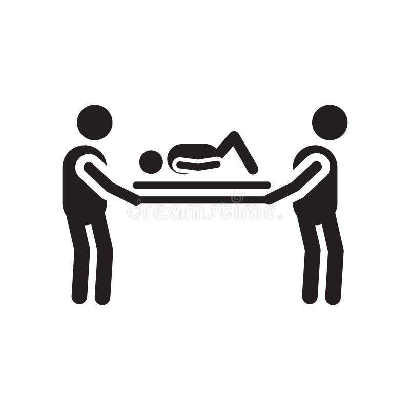 Sinal e símbolo do vetor do ícone do paramédico isolados no fundo branco, conceito do logotipo do paramédico ilustração stock