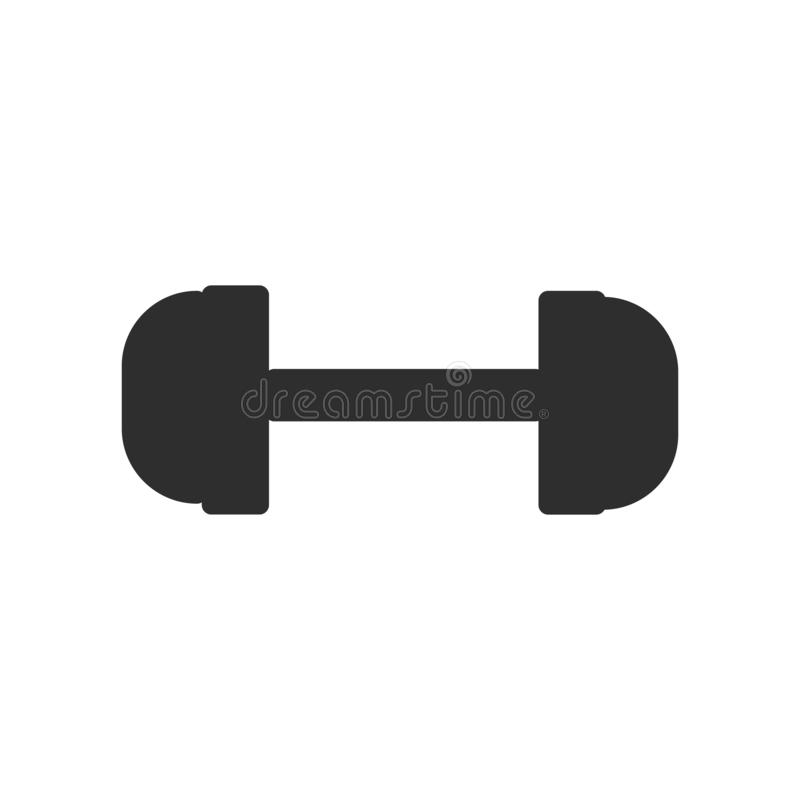 Sinal e símbolo do vetor do ícone do peso do Gym isolados no fundo branco, conceito do logotipo do peso do Gym ilustração do vetor
