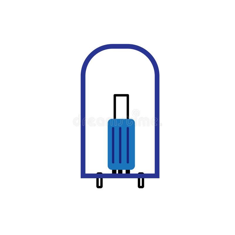 Sinal e símbolo do vetor do ícone do porteiro isolados no fundo branco, conceito do logotipo do porteiro ilustração royalty free