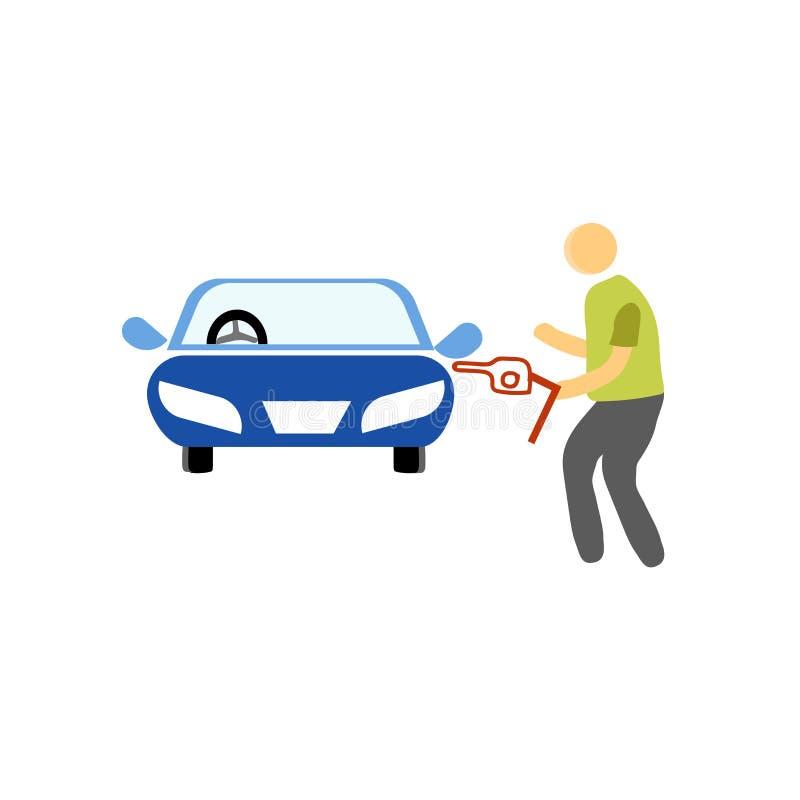 Sinal e símbolo do vetor do ícone do posto de gasolina isolados no fundo branco, conceito do logotipo do posto de gasolina ilustração royalty free