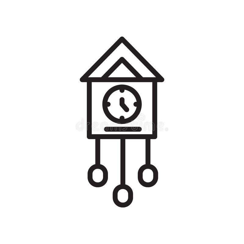 Sinal e símbolo do vetor do ícone do pulso de disparo de cuco isolados no fundo branco, conceito do logotipo do pulso de disparo  ilustração stock