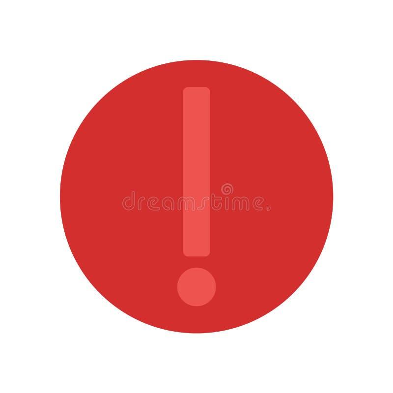 Sinal e símbolo do vetor do ícone do risco isolados no fundo branco, conceito do logotipo do risco ilustração royalty free