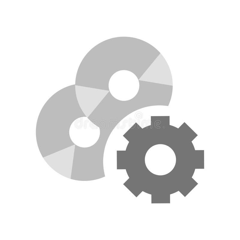 Sinal e símbolo do vetor do ícone do software isolados no fundo branco, conceito do logotipo do software ilustração royalty free