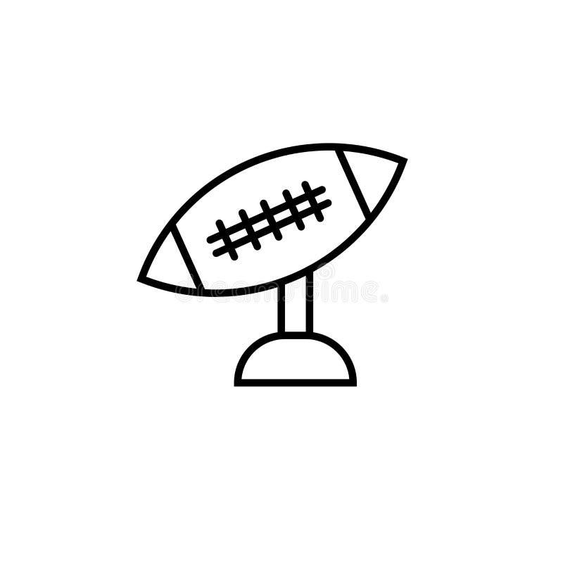 Sinal e símbolo do vetor do ícone do T de futebol americano isolados no fundo branco, conceito do logotipo do T de futebol americ ilustração do vetor