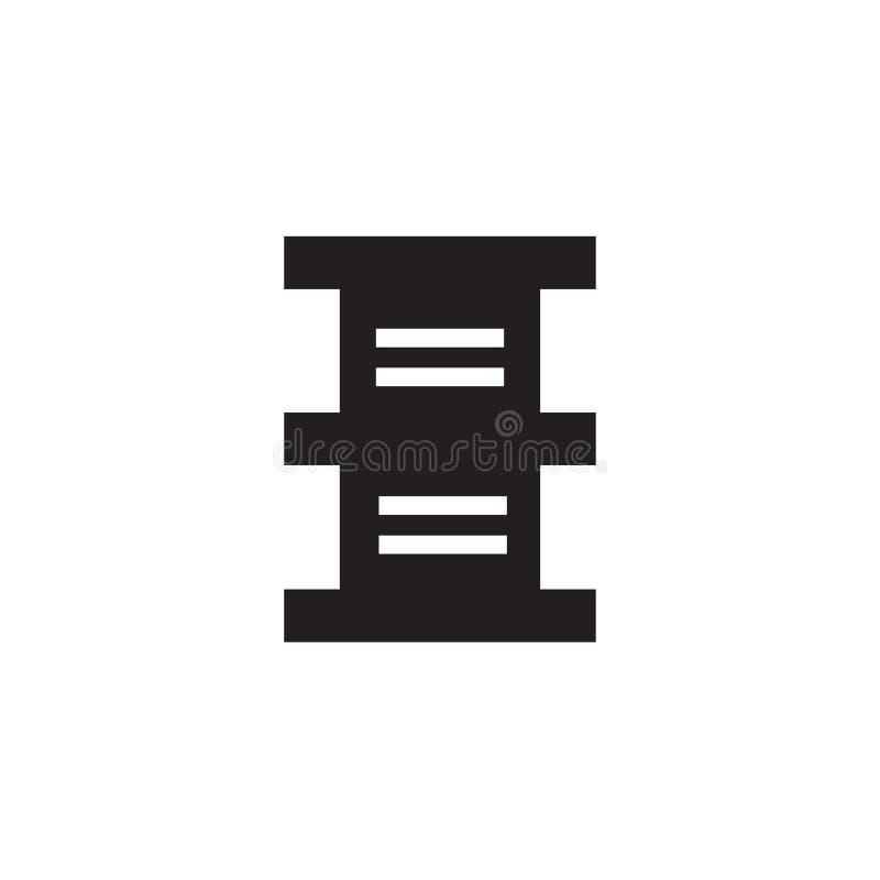 Sinal e símbolo do vetor do ícone do tambor isolados no fundo branco, conceito do logotipo do tambor ilustração do vetor