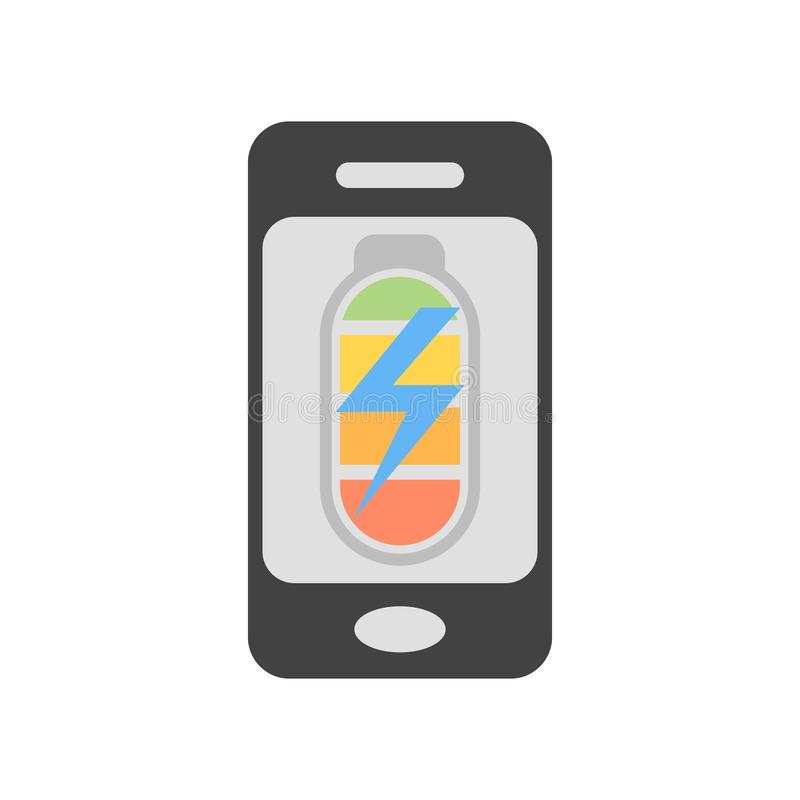 Sinal e símbolo do vetor do ícone do telefone celular isolados no fundo branco, conceito do logotipo do telefone celular ilustração stock
