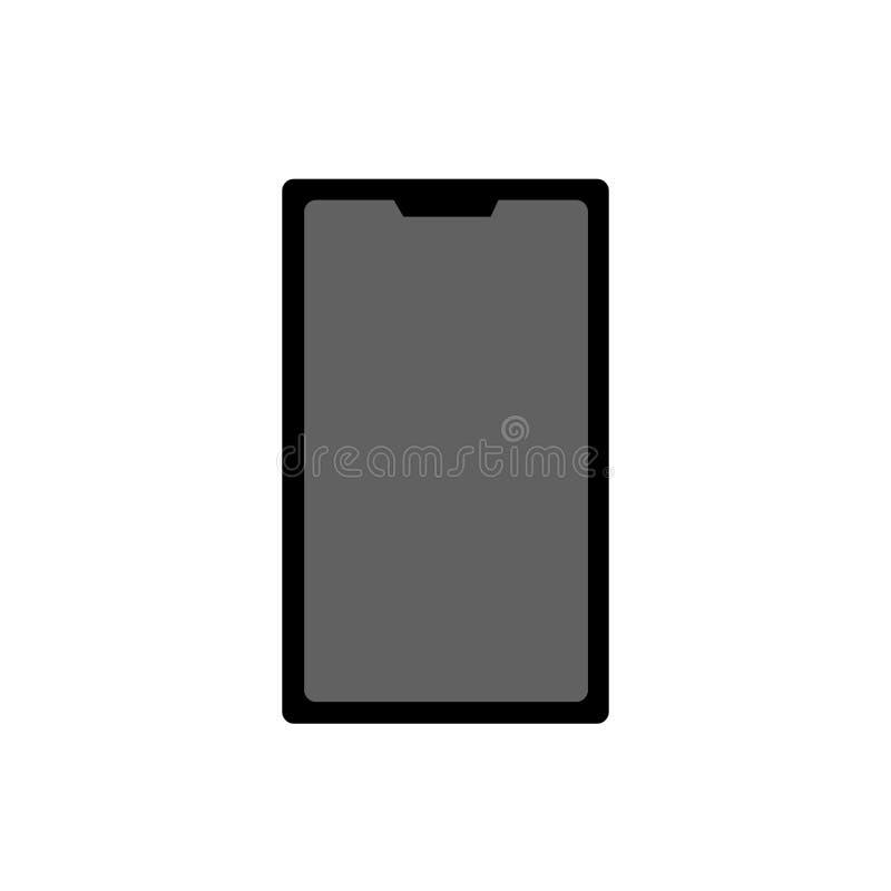 Sinal e símbolo do vetor do ícone do telefone isolados no fundo branco, conceito do logotipo do telefone ilustração stock