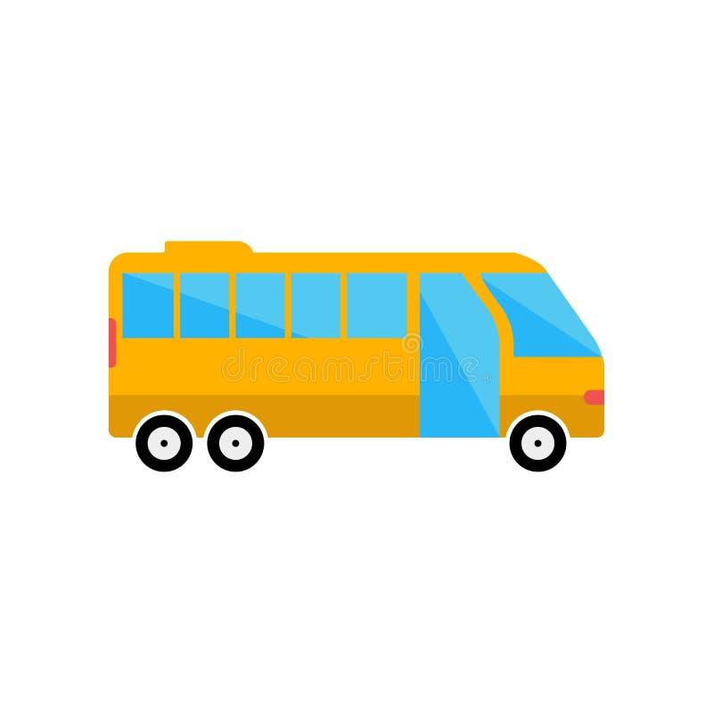 Sinal e símbolo do vetor do ícone do transporte público isolados em b branco ilustração do vetor