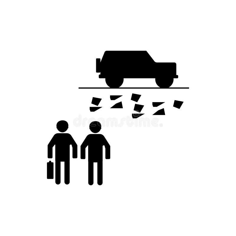 Sinal e símbolo do vetor do ícone do veículo militar isolados no fundo branco, conceito do logotipo do veículo militar ilustração stock