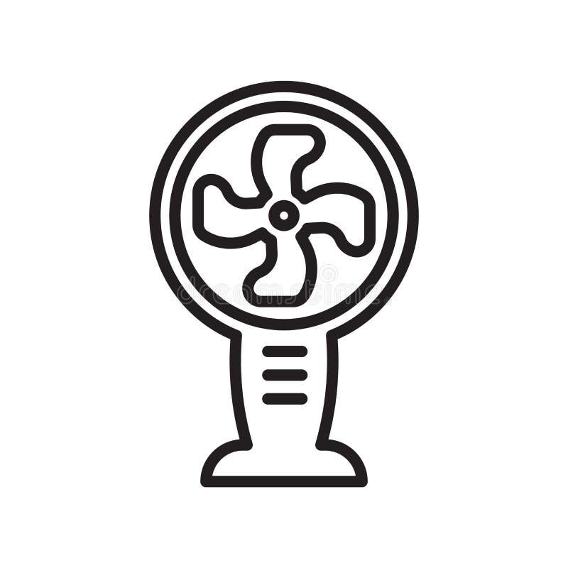 Sinal e símbolo do vetor do ícone do ventilador isolados no backgro branco ilustração do vetor