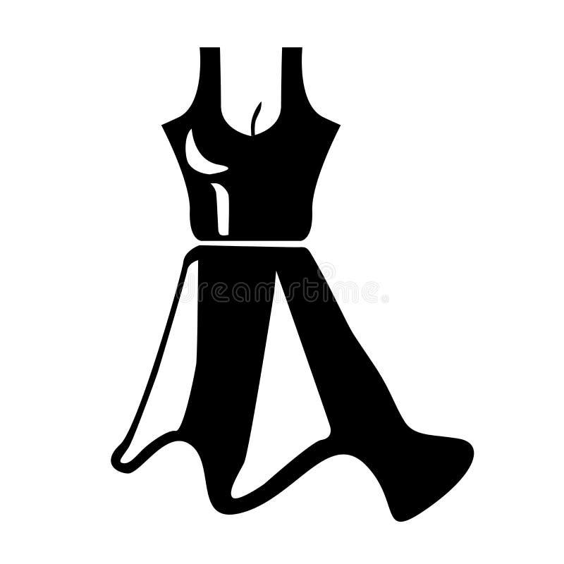 Sinal e símbolo do vetor do ícone do vestido isolados no fundo branco, conceito do logotipo do vestido ilustração royalty free