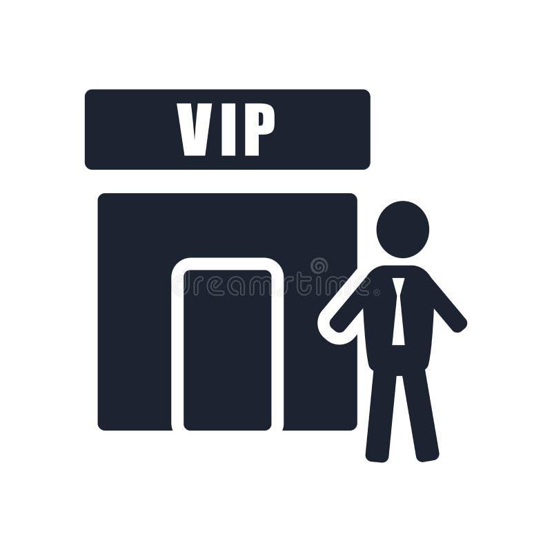 Sinal e símbolo do vetor do ícone do Vip isolados no fundo branco, Vi ilustração stock