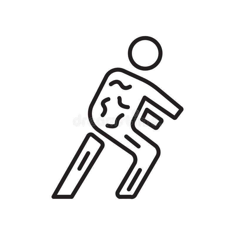 Sinal e símbolo do vetor do ícone do zombi isolados no fundo branco ilustração stock