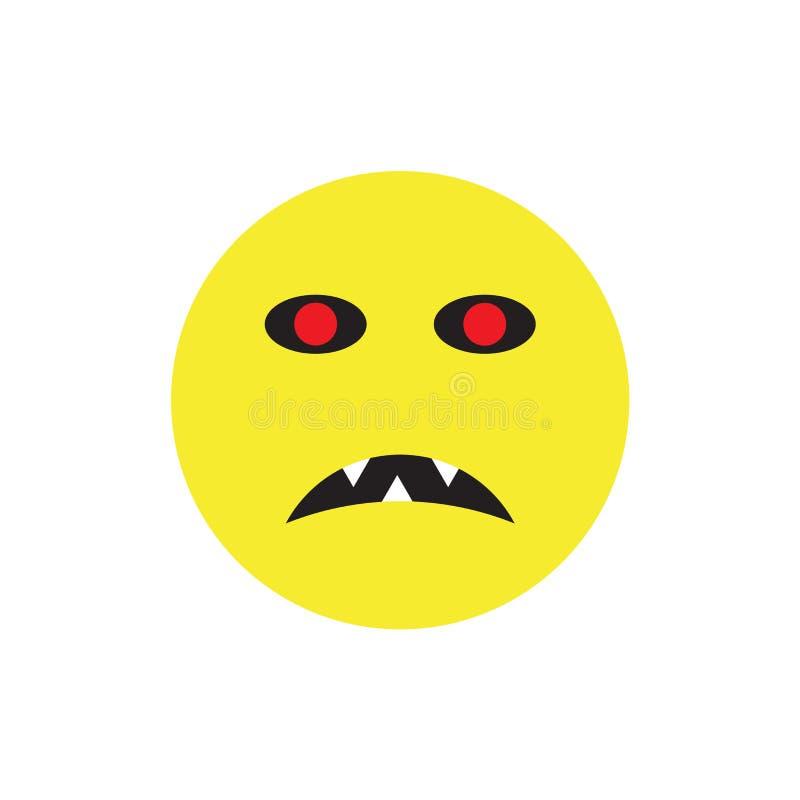 Sinal e símbolo do vetor do ícone do zombi isolados no fundo branco ilustração do vetor