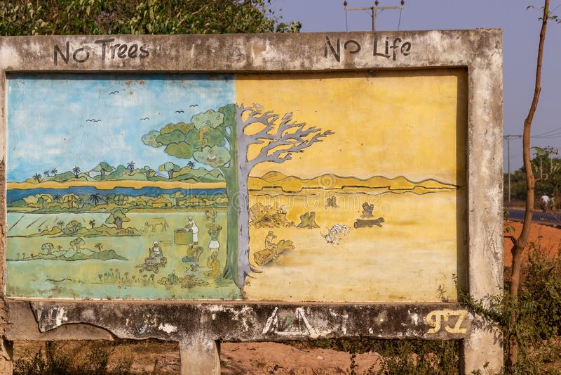 Sinal educacional de Gâmbia fotografia de stock royalty free
