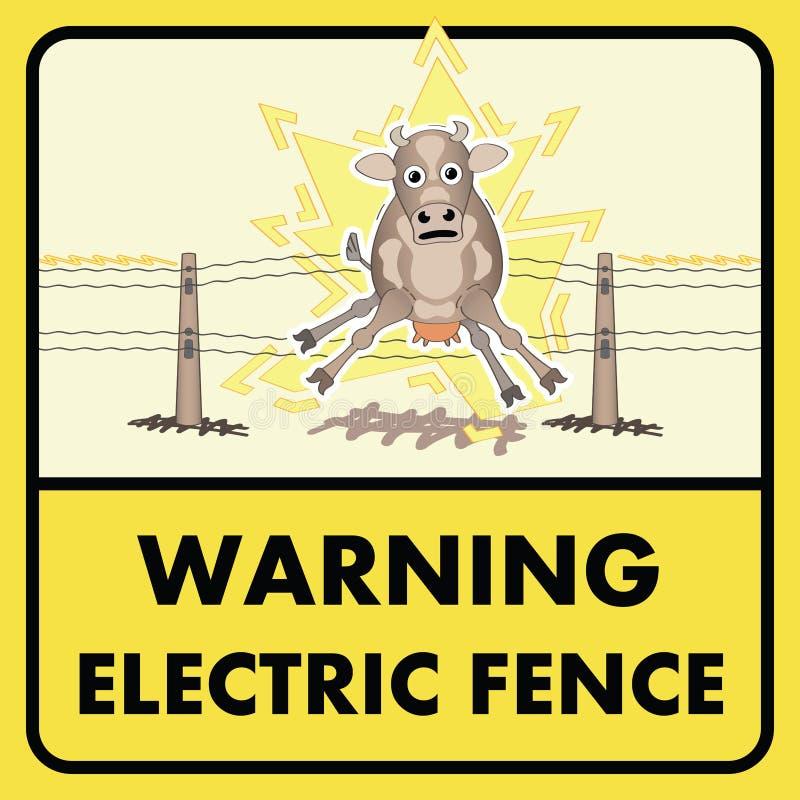 Download Sinal elétrico da cerca ilustração do vetor. Ilustração de perigo - 26511562
