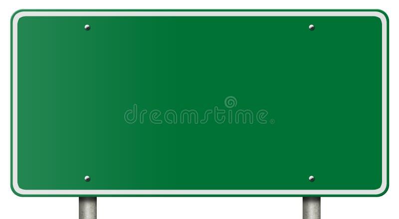 Sinal em branco da autoestrada isolado no branco ilustração royalty free