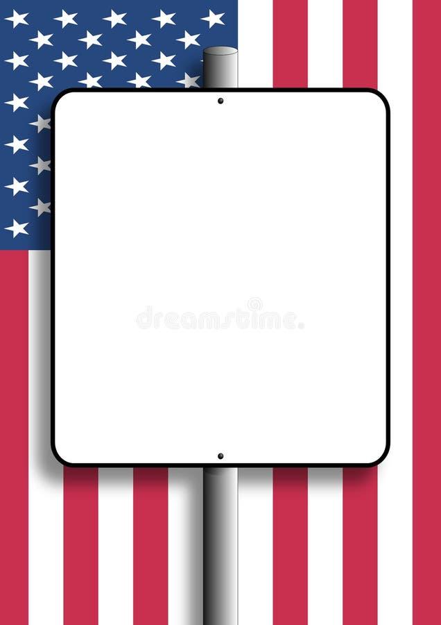 Sinal Em Branco Da Bandeira Dos EUA Foto de Stock
