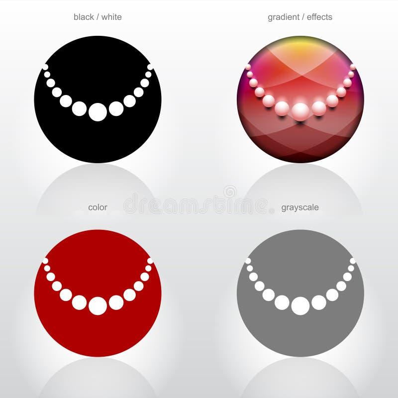 Sinal estilizado da colar dos grânulos ilustração do vetor