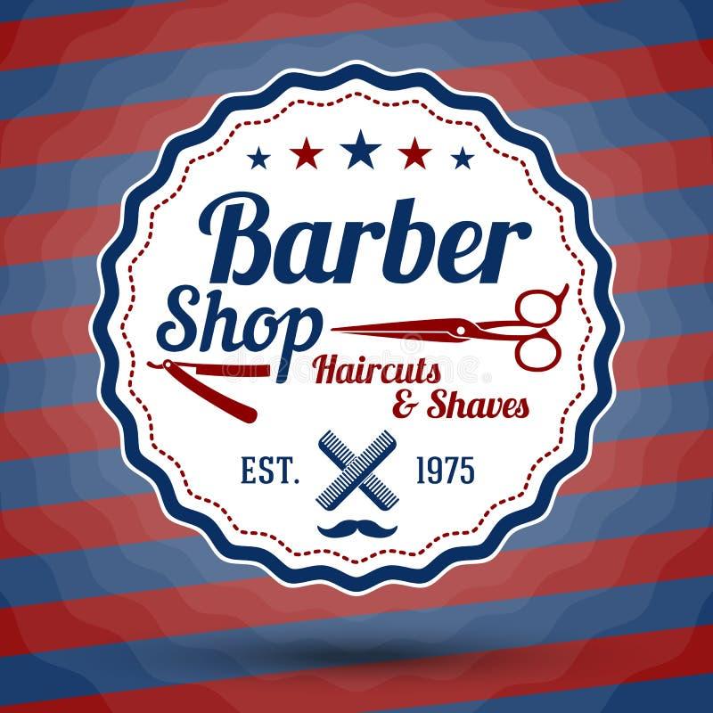 Sinal estilizado retro do vetor para Barber Shop sobre ilustração stock
