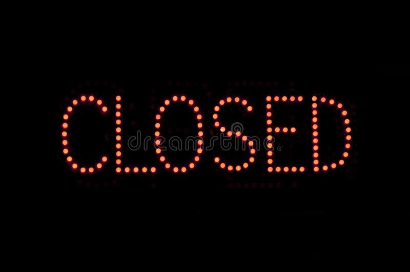Sinal fechado foto de stock royalty free