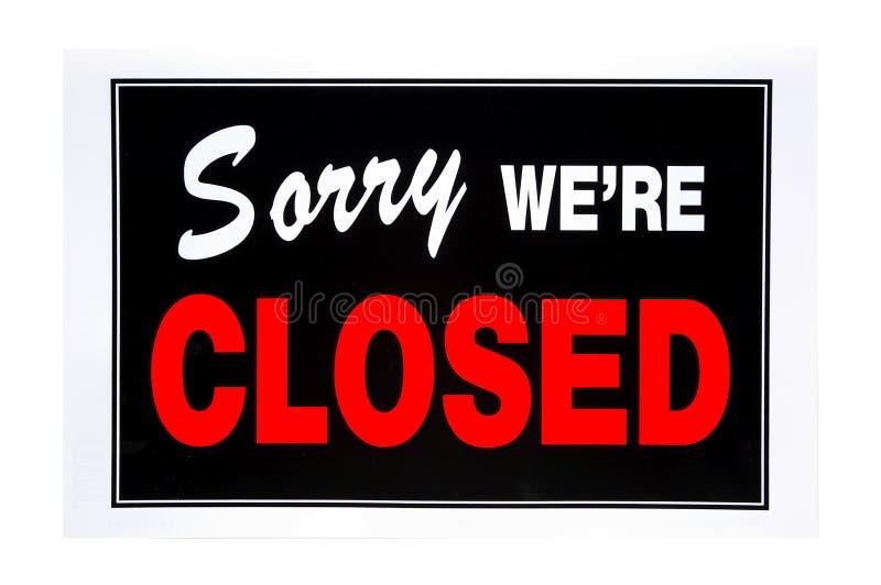 Download Sinal fechado imagem de stock. Imagem de storefront, bandeira - 83309
