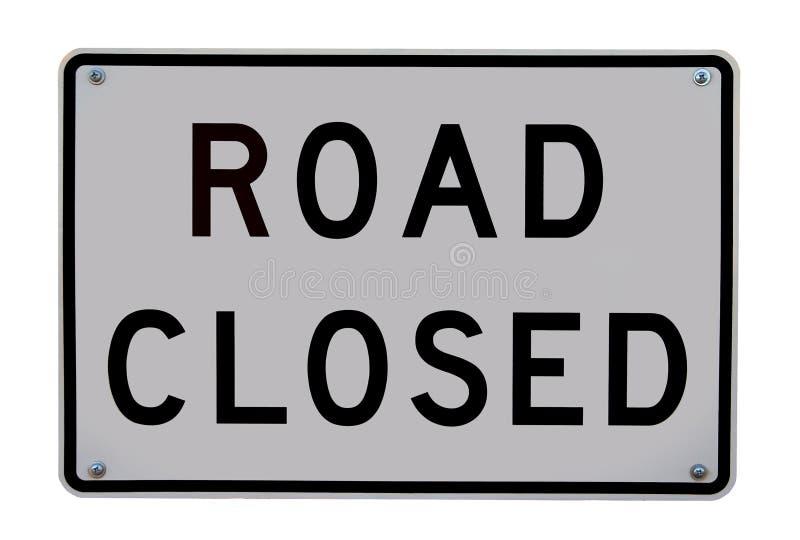 Sinal fechado estrada fotografia de stock