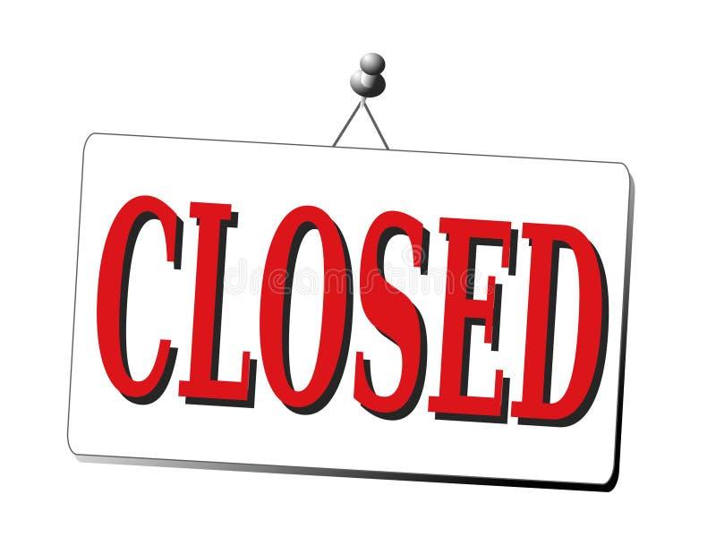 Sinal fechado isolado ilustração do vetor