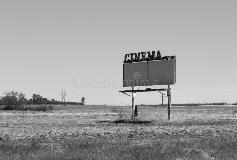 Sinal fechado longo de uma movimentação pesada da era no famoso do filme imagem de stock