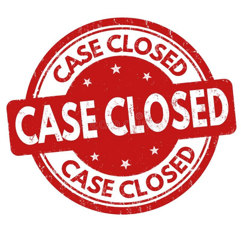 Sinal fechado ou selo do caso ilustração do vetor