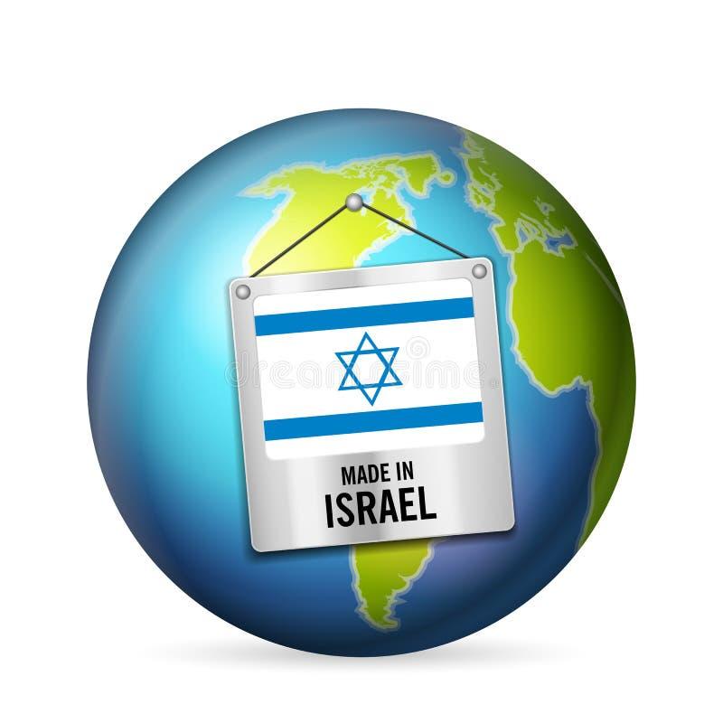 Sinal feito em Israel ilustração do vetor