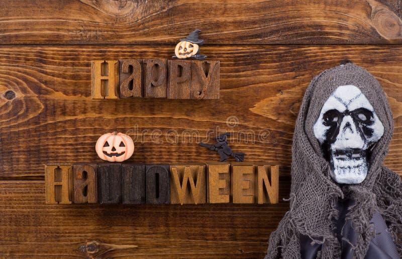 Sinal feliz de Halloween fotografia de stock
