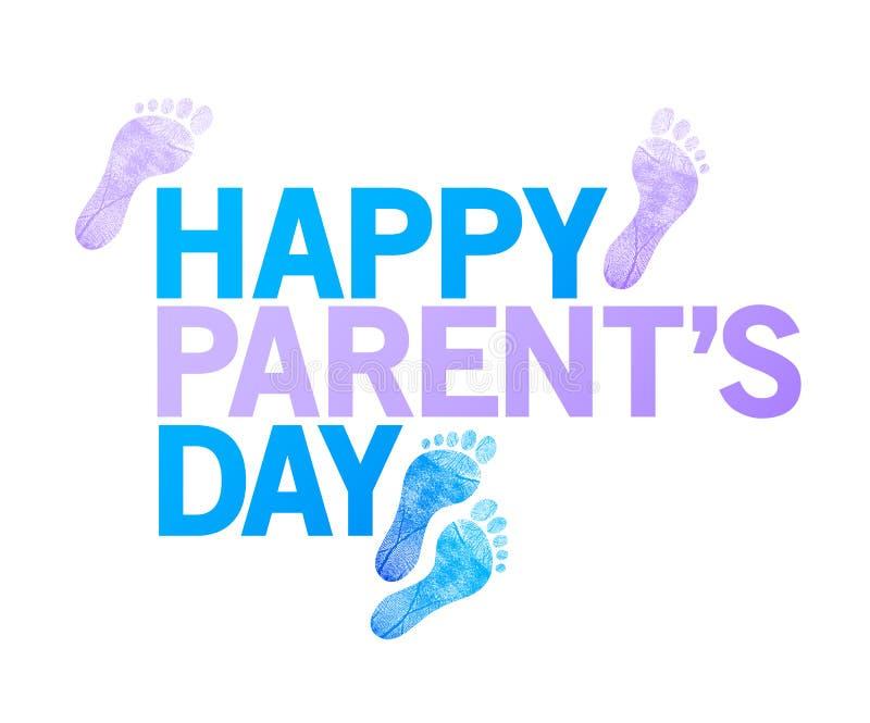 sinal feliz do dia dos pais pés felizes da ilustração ilustração do vetor