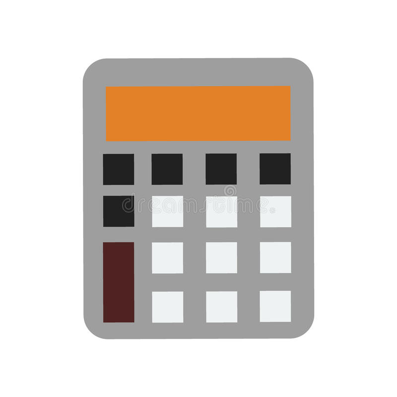 Sinal financeiro eletrônico da escola do projeto de exposição do ícone do vetor da tecnologia da calculadora do negócio da matemá ilustração stock