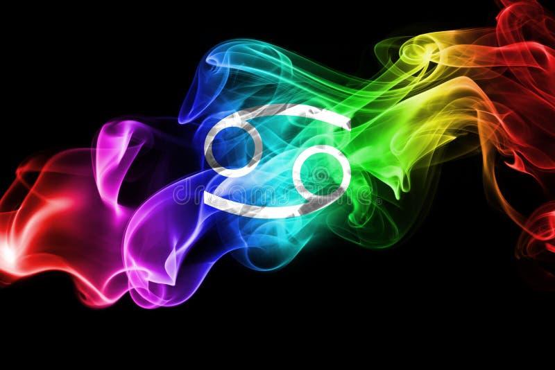 Sinal fumarento da astrologia do zodíaco do câncer para o horóscopo ilustração stock