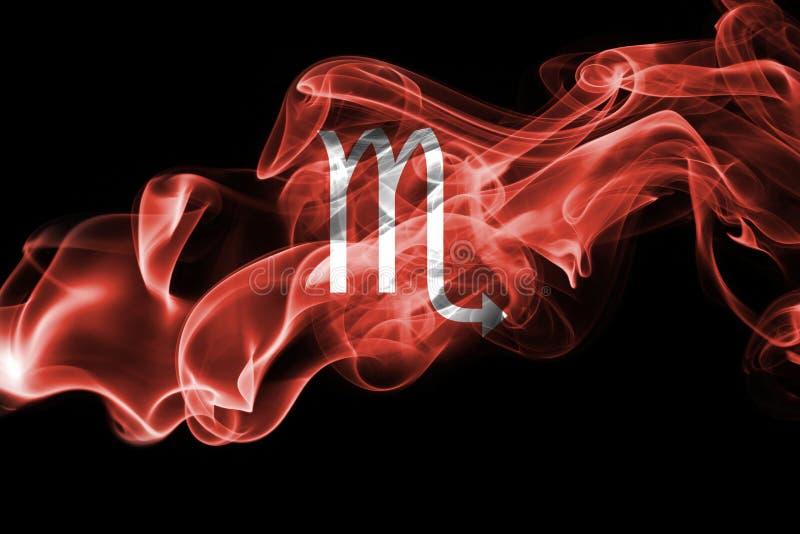 Sinal fumarento da astrologia do zodíaco da Escorpião para o horóscopo fotos de stock royalty free