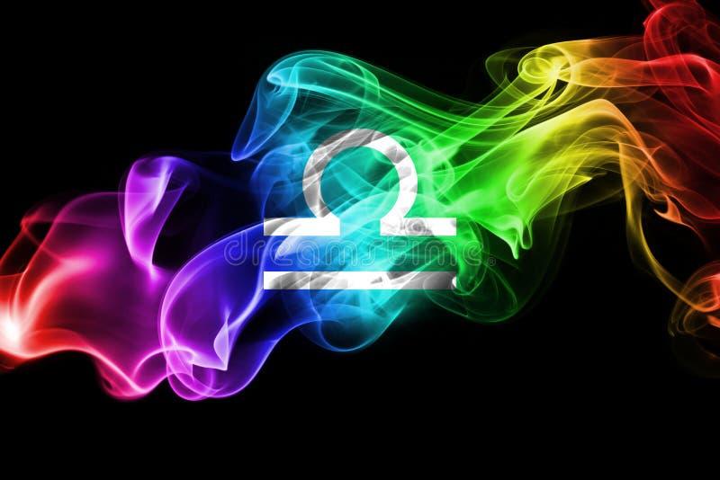 Sinal fumarento da astrologia do zodíaco da Libra para o horóscopo ilustração royalty free