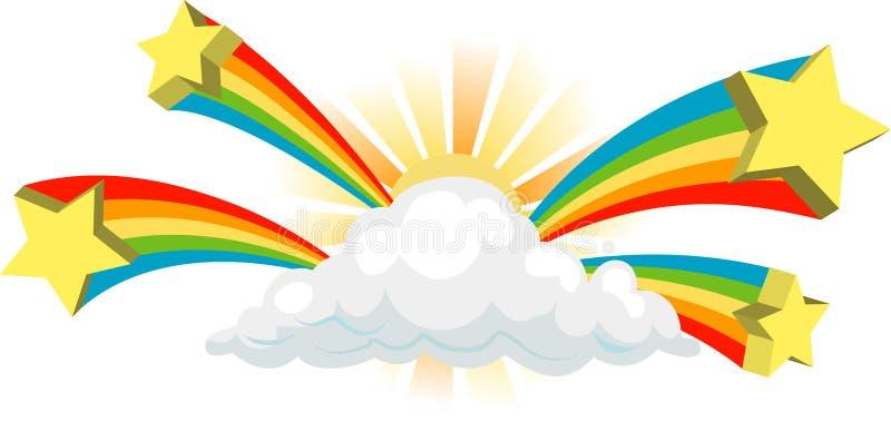 Sinal Funky da nuvem ilustração stock