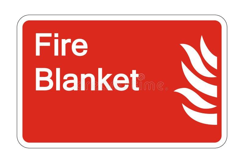 sinal geral do símbolo da segurança do fogo do símbolo no fundo branco, ilustração do vetor ilustração royalty free