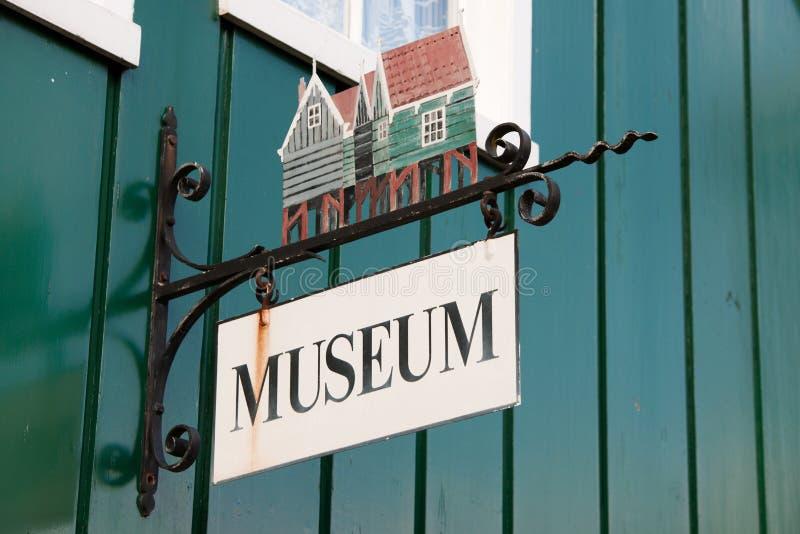 Sinal holandês para o museu fotografia de stock royalty free