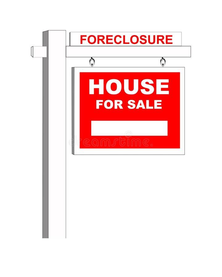Sinal Home da execução duma hipoteca ilustração stock