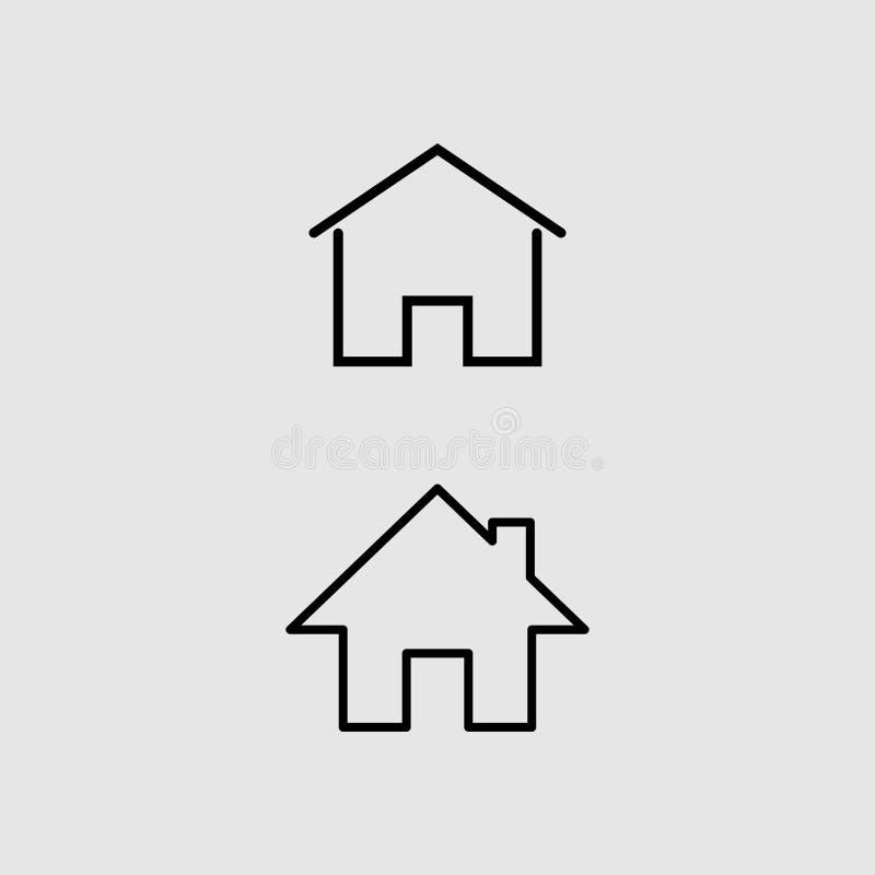 Sinal home do vetor do ícone ilustração royalty free