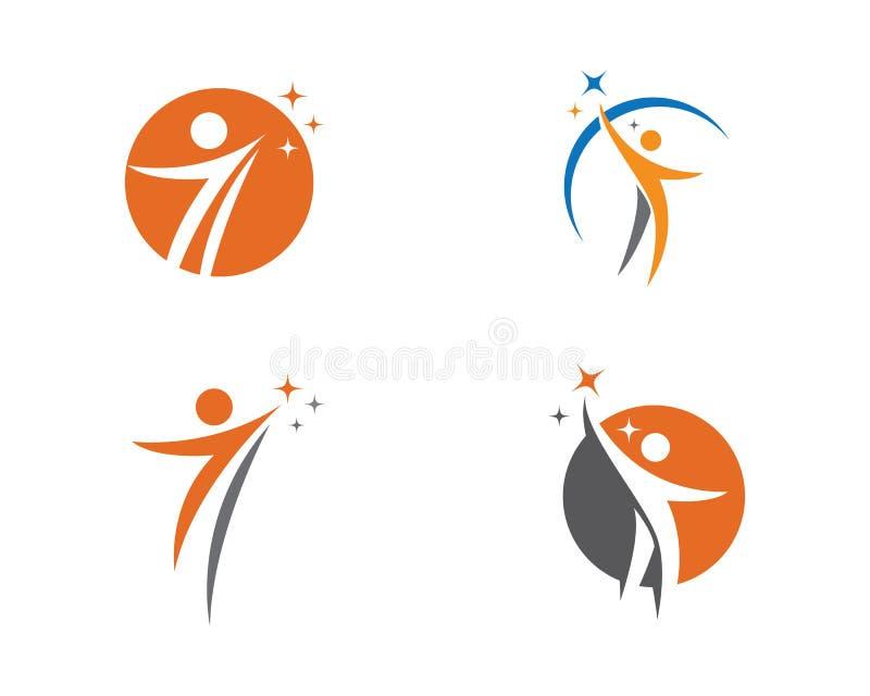 Sinal humano do logotipo do caráter ilustração stock