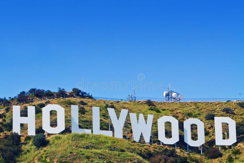 Sinal icónico de Hollywood de Los Angeles, Califórnia fotos de stock royalty free