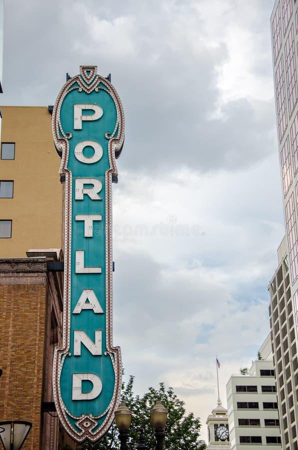 Sinal icônico de Portland imagens de stock