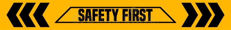 Sinal industrial da segurança em primeiro lugar ilustração royalty free