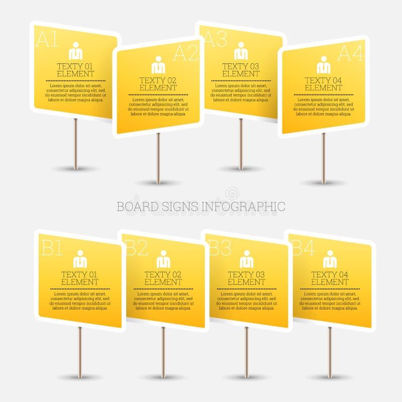 Sinal Infographic da placa ilustração stock