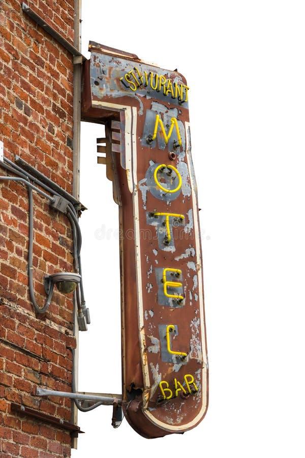 Sinal isolado do motel do metal fotos de stock