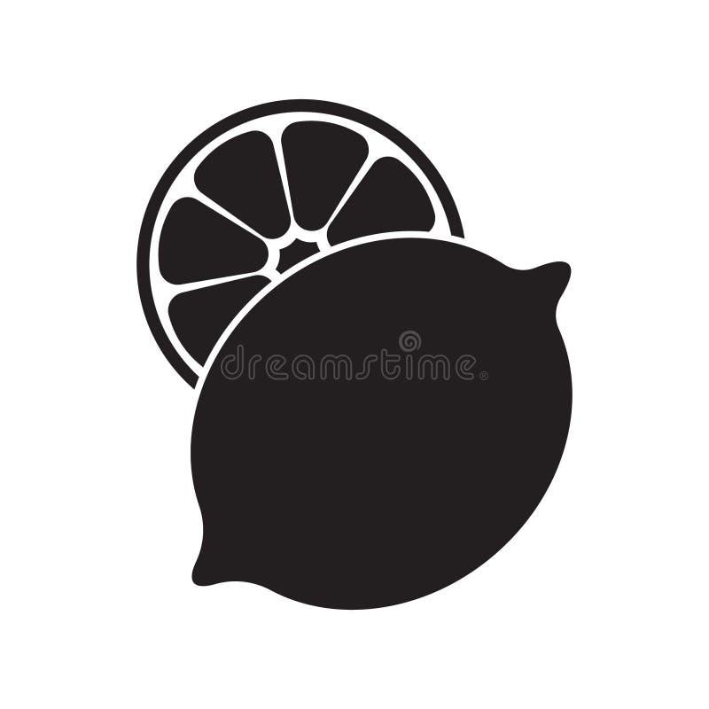 Sinal isolado ilustração do vetor do ícone do limão ilustração stock