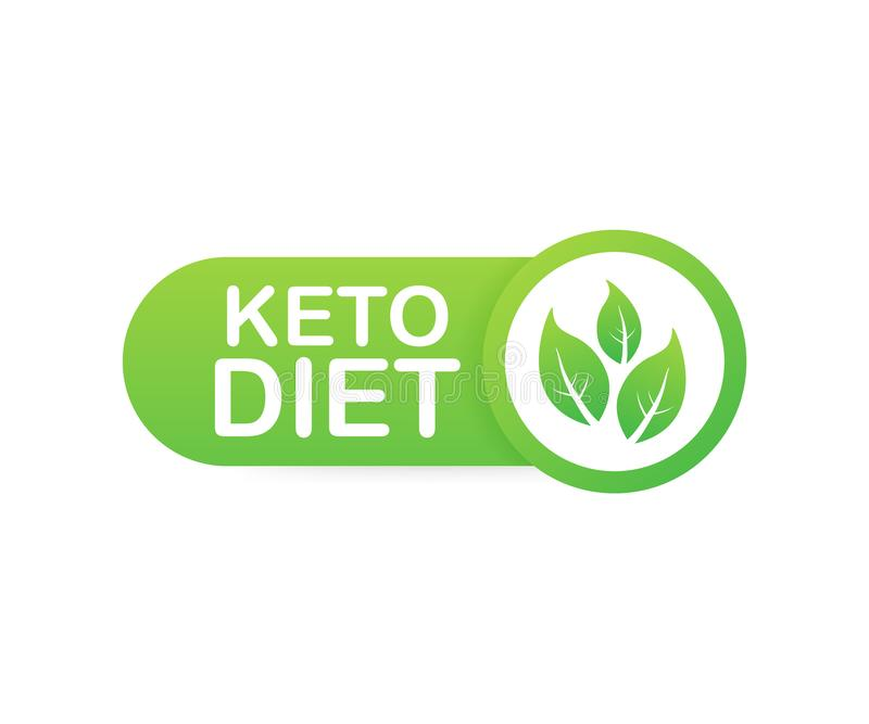 Sinal Ketogenic do logotipo da dieta Dieta do Keto Ilustração do vetor ilustração do vetor